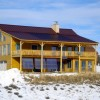 Net Zero PV Log Home