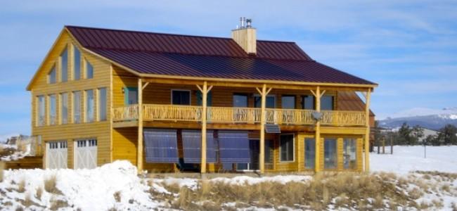 Net Zero PV Log Home