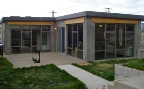 A Concrete Modern Passive Solar Home