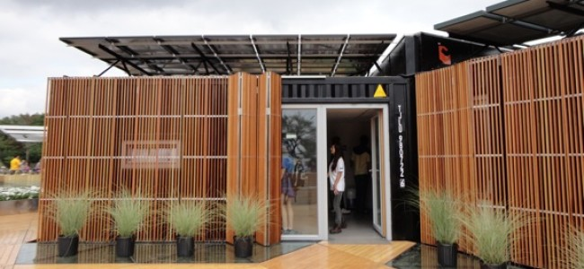 A Modular Home Made from Recycled Shipping Containers