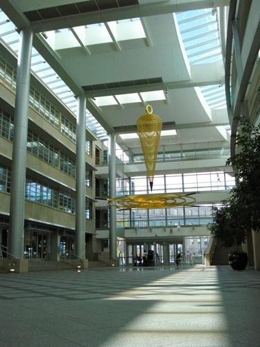 Atrium of the Webb Building via Green Passive Solar