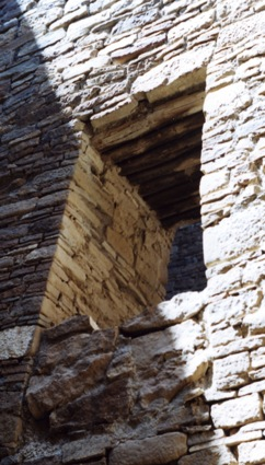 the thick masonry of a chaco canyon window