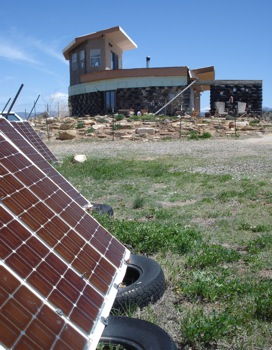 Off-Grid Passive Solar Modified Earthship: Made From