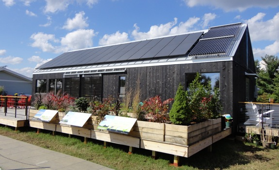 Passive solar house with trombe walls green passive for Active solar house plans