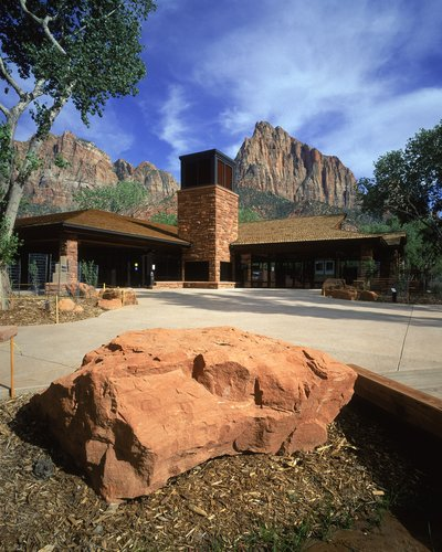 Contemporary Passive Solar Commercial Building, Zion National Park Visitor's Center