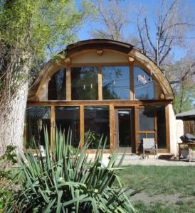 Passive solar quonset hut