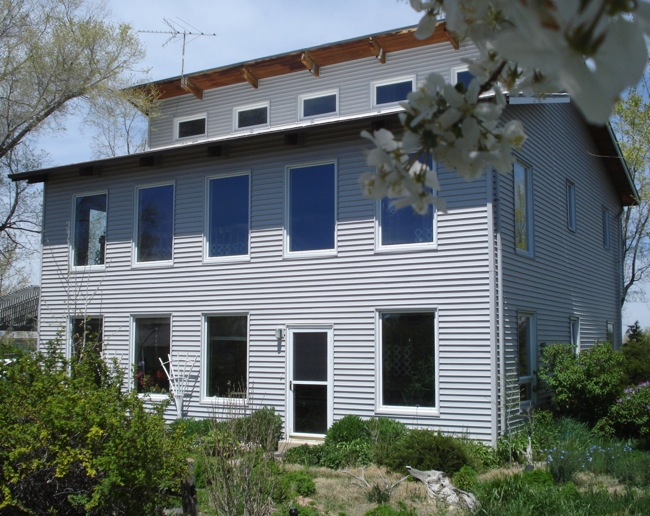 The passive solar house after the retrofit