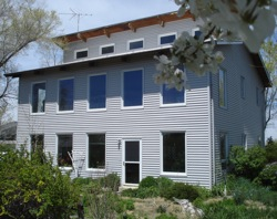a passive solar home with convective cooling built in.