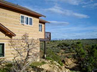 West Side of a Passive Solar house