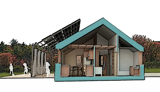 A 3D model of the 4DHome