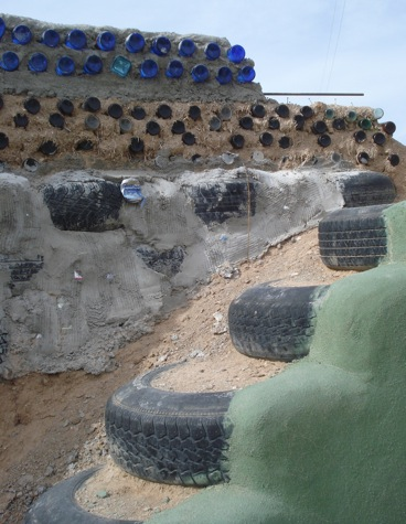 House Made By Waste Material Of Earthships Self Sustaining Passive Solar Houses Made Out
