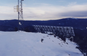 ktao solar array in the winter