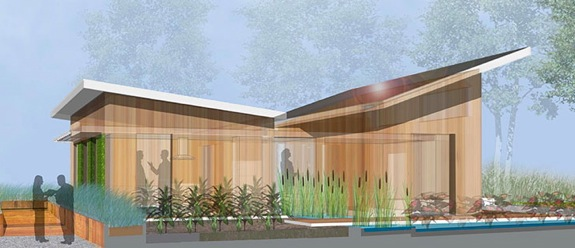 The Watershed Home, a passive and active solar home for the Solar Decathlon