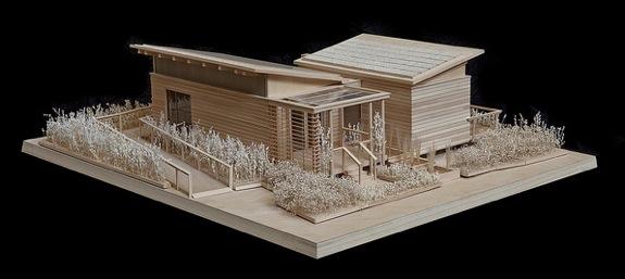 Passive solar house model