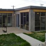 Modern concrete passive solar home