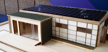 A solar powered modular home after disaster strikes for Passive solar modular homes