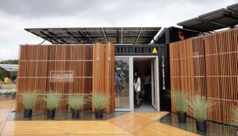 A modular home made from recycled shipping containers for Passive solar modular homes