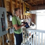The INhome can be remotely controled by a smartphone or iPad.  This is also the only Solar Decathlon home that has a garage.