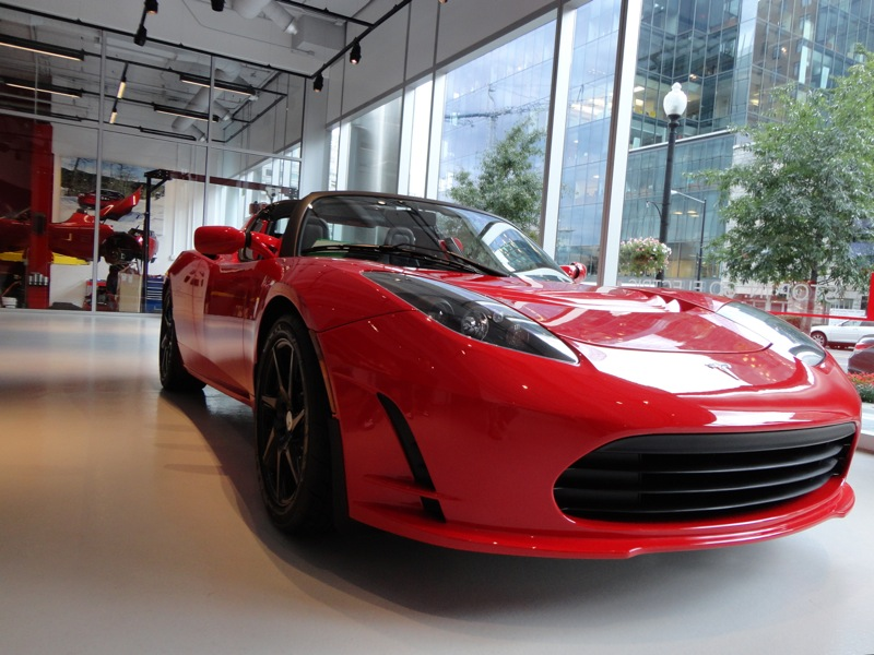 Tesla Roadster Red
