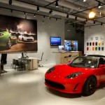 The Tesla Motors Showroom - almost like Candyland for adults