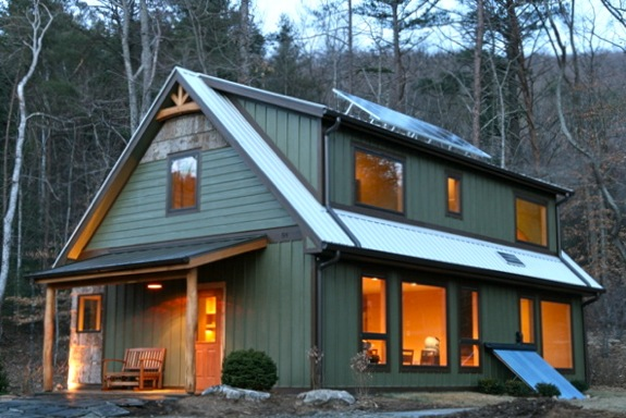 this passive solar home combines active and passive solar building