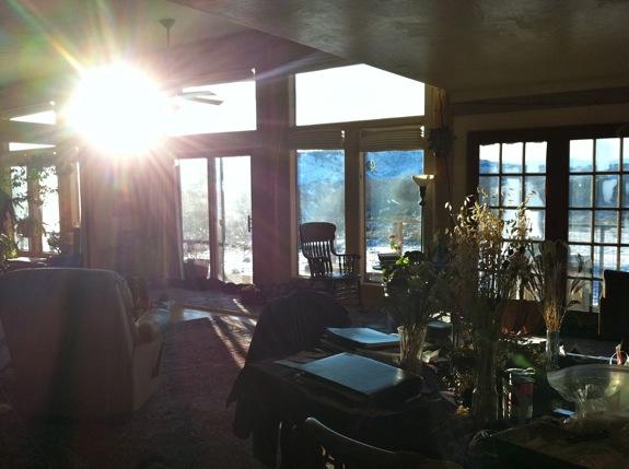 winter sun on solstice