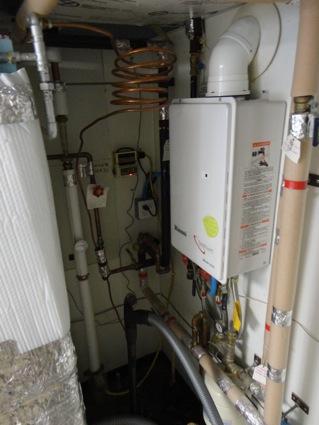 backup flash hot water heater
