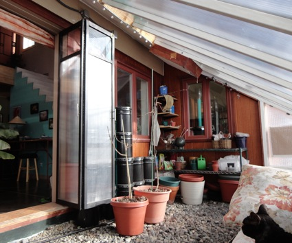 An optimally efficient off grid passive and active solar for House plans with greenhouse attached