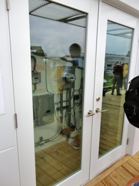 The utility or mechanical room could be accessed from outside.