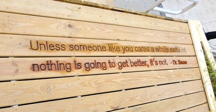 'Unless someone like you care a whole lot, nothing is going to get better, it's not.  - Dr. Suess
