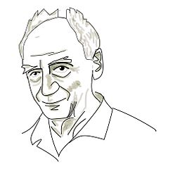 Caricature of Paolo Soleri