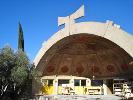 The half dome of the foundry at Arcosanti.