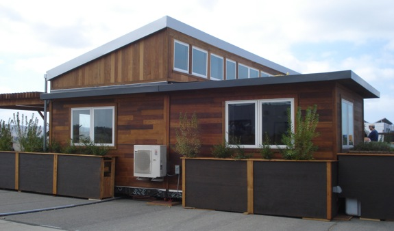 Side view of Start.Home from Stanford.  This year was one of the closest Solar Decathlons ever.